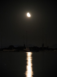 Moonlight on water