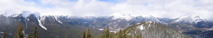Panoramic View of Sulphur Moun