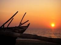sunset at benaulim