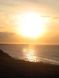 Coucher de soleil sur le fleuv