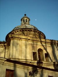 Roman Architecture Moon Backdr