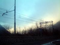 Railway and dusk