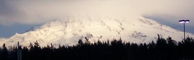 Hugging Mt Rainier
