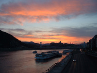 Danube in sunset