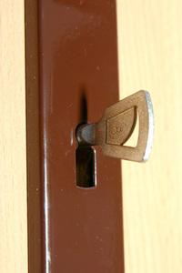 Door lock with key