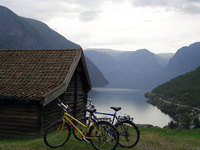 Bikes on a fjord