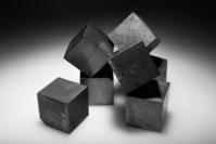 Cubes of rusty iron