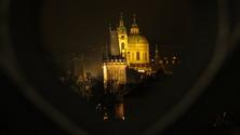 Prague Castle in Winter Night