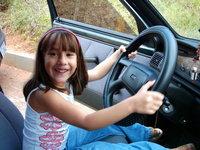 Mini Girl in car