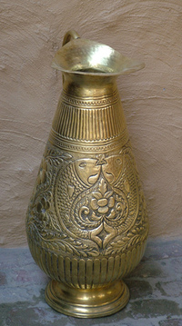 metal pitcher