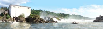 Oregon City Falls Panorama View