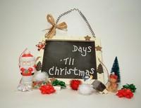 Santa's Advent Chalkboard on White w/Handle