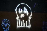 Graffiti On A Reservoir Wall