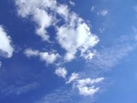 blue sky behind the window