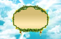 Green leaf border 2