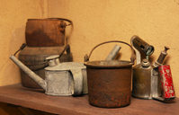 old brass jugs