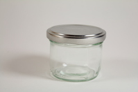 A glass jar 1