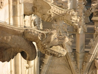 Gargoyle with antipigeons system
