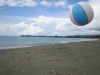 Mid-air Beach Ball