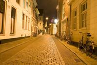 Dutch street by night