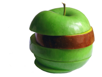 Green+Red apple