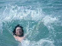 Splash on the water