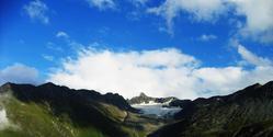 mountain meets sky
