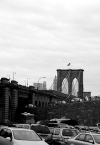 Brooklyn Bridge & Cars