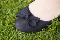 foot on grass