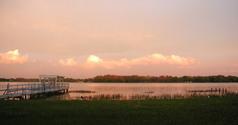 florida sunset over lake