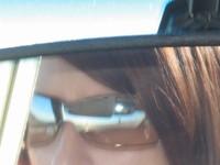 sunglasses in the rear view mi