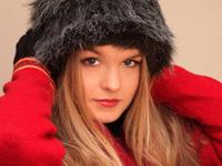 Beautiful girl in black cap #2