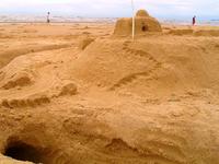 Sand castle steps