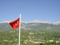 Turkish flag over Tlos