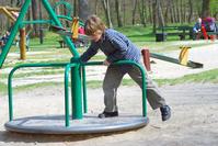 Play on the carrousel