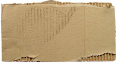 torn dirty cardboard