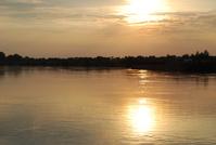 Sunset,Sun,River,Peace,Borusowa,Poland
