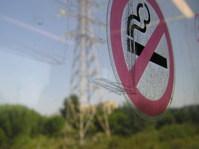 No smoking (under high voltage