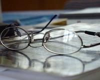 glasses reflect