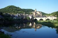 Little village along a river