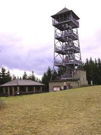 Wooden tower on Czantoria