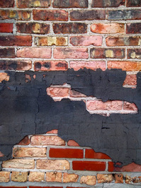 brick and black paper