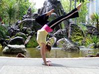 Handstand girl