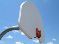 a rimless basketball hoop in galesburg, mi