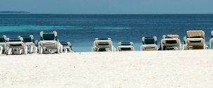 Empty island beach
