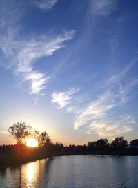 spring sunset at piero's lake