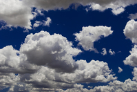 White clouds in the deep blue