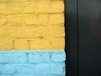 yellow blue wall
