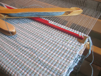 Rug at loom