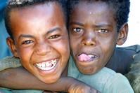 Two Ethiopian boys
